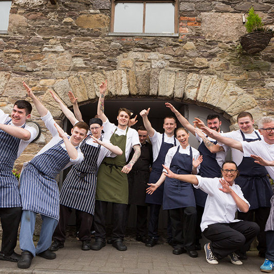 Taken on 23/4/2017  Paul Flynn and The Tannery team with Stevie Toman and the team from Ox Belfast, Dungarvan, County Waterford on the 10th Anniversary of the West Waterford Festival of Food 2017 Picture: Karen Dempsey