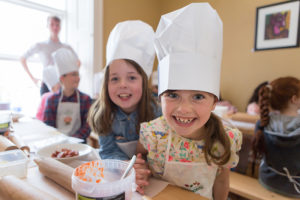 REPRO FREE  Taken on 22/4/2017 Clodagh Cunningham and Clodagh Murphy at 'Perfect Pizza' class for kids at The Gourmet House, Dungarvan, County Waterford at the West Waterford Festival of Food 2017 Picture: Karen Dempsey